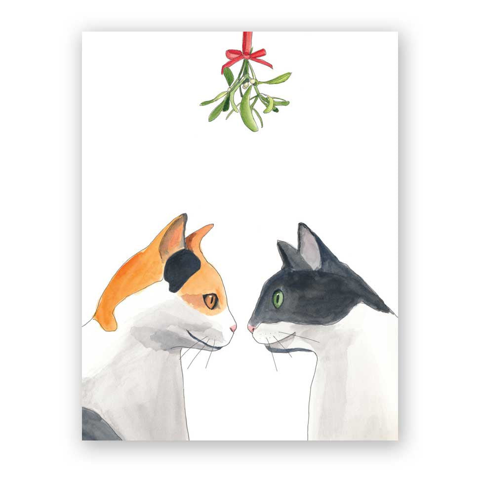 Mistletoe Cats Holiday Card
