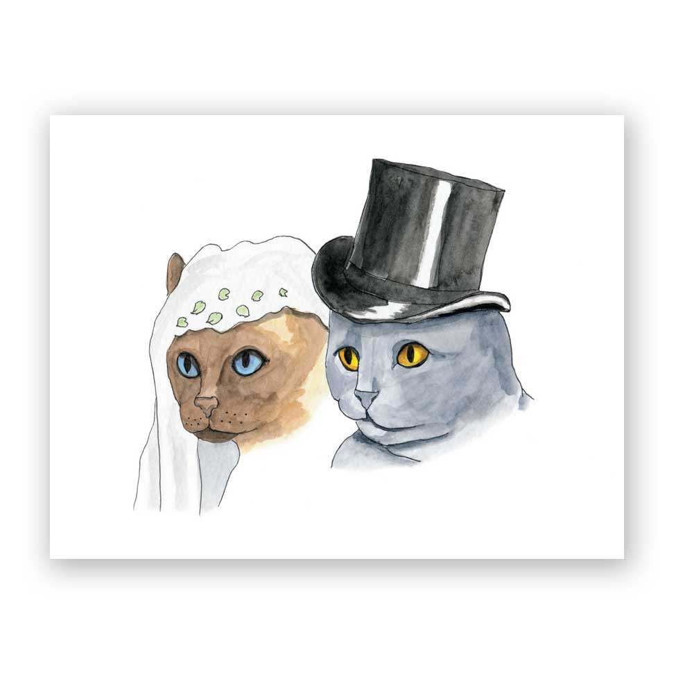 Cat Couple Wedding Card