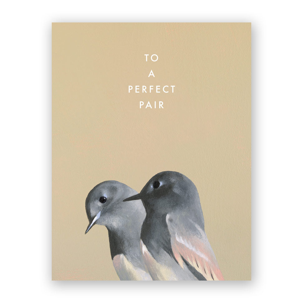 Bird Pair Wedding Card