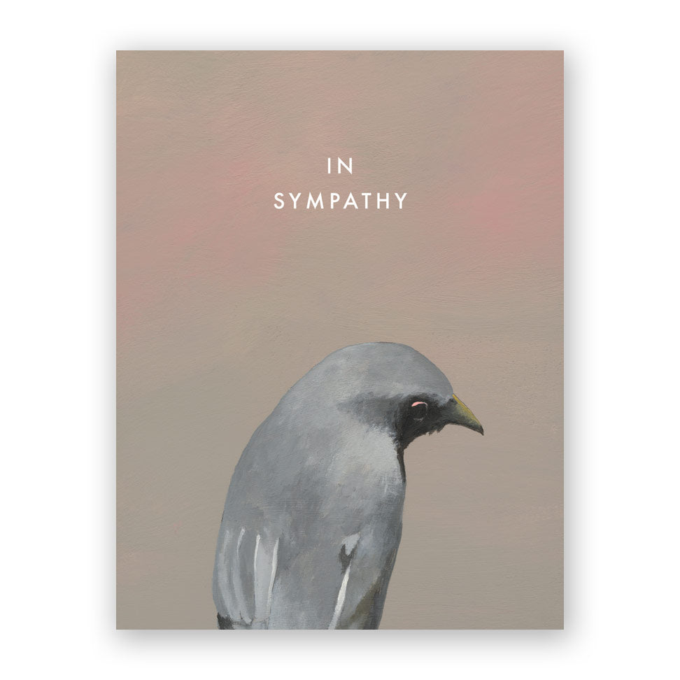 Bird In Sympathy Card