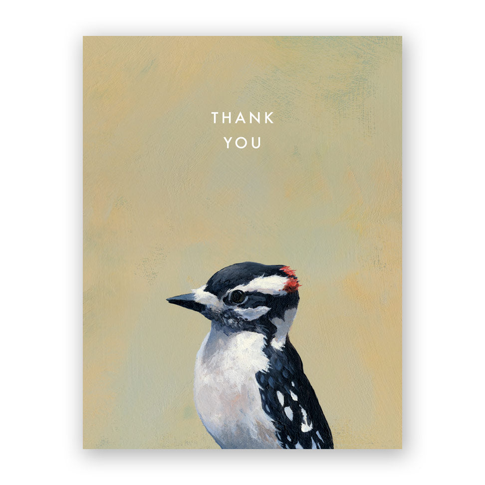 Downy Woodpecker Thank You Card