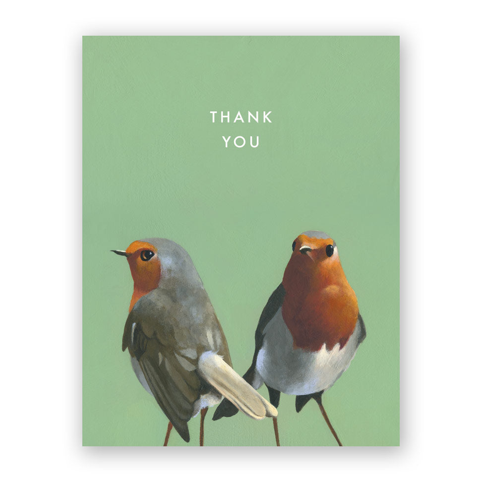 European Robin Thank You Card