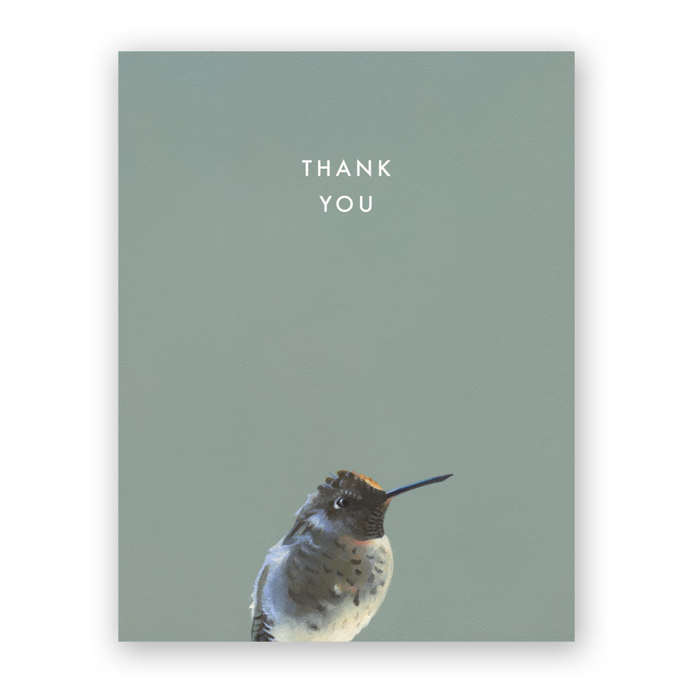 Thank You Hummingbird Card