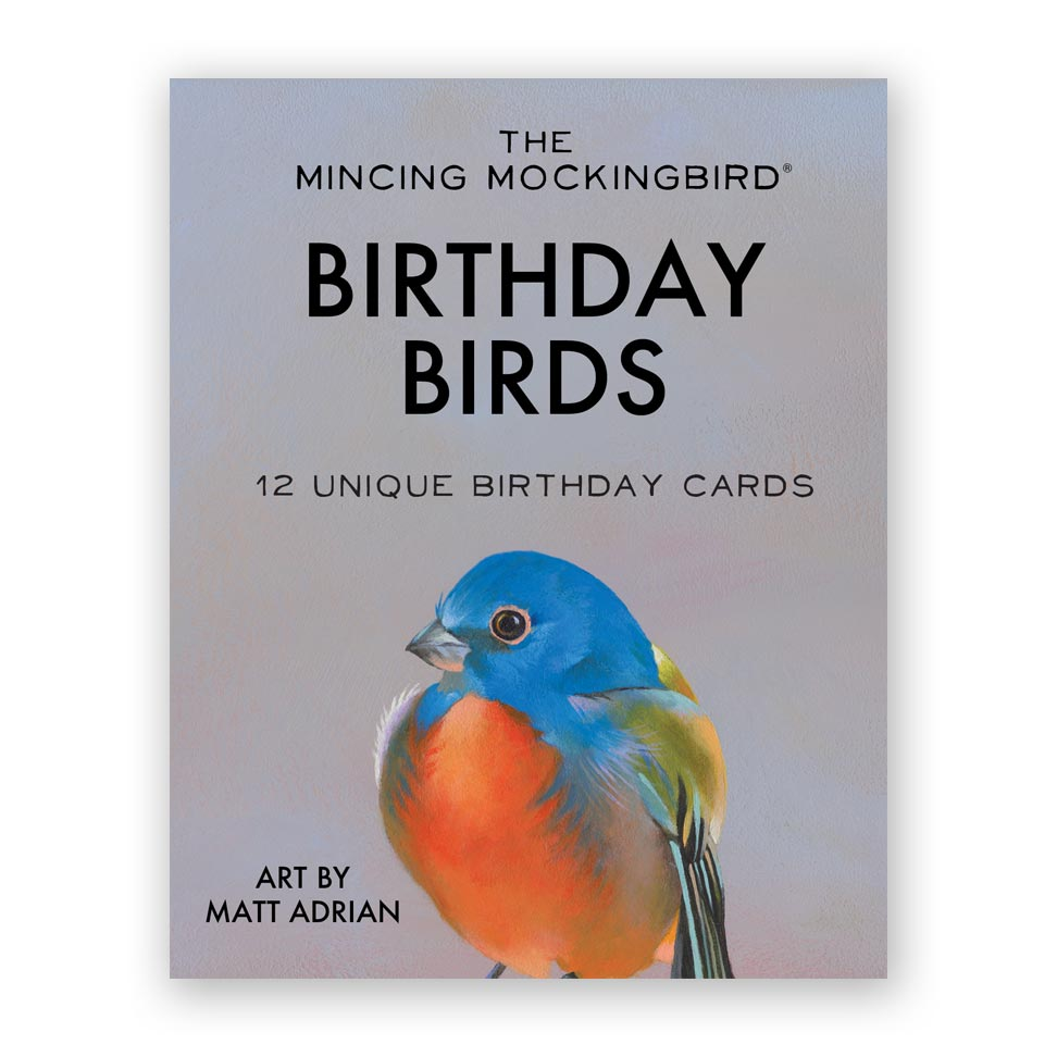 Matt Adrian Bird Birthday Box Set Of 12 The Mincing Mockingbird