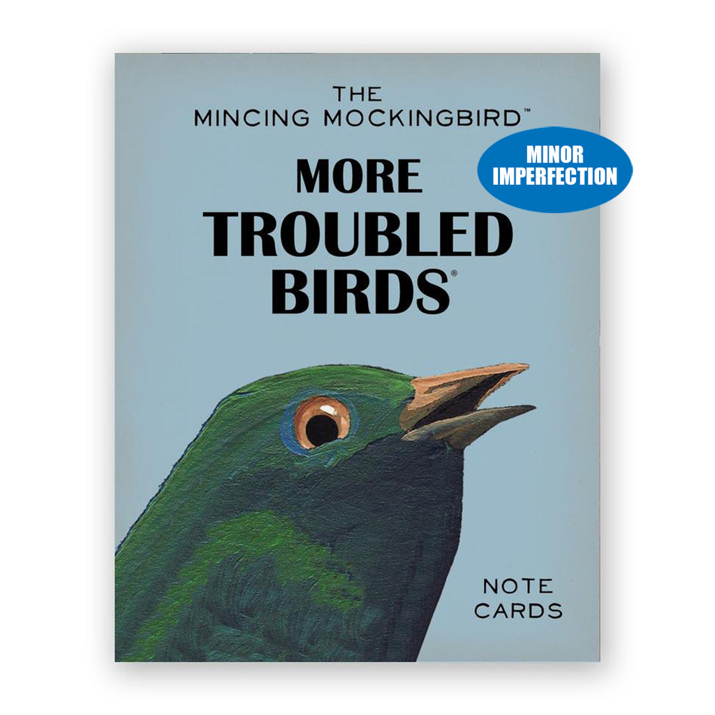 Sale - More Troubled Birds Mixed Box of 12 Cards