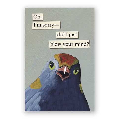 Bird Puke Mother's Day Card