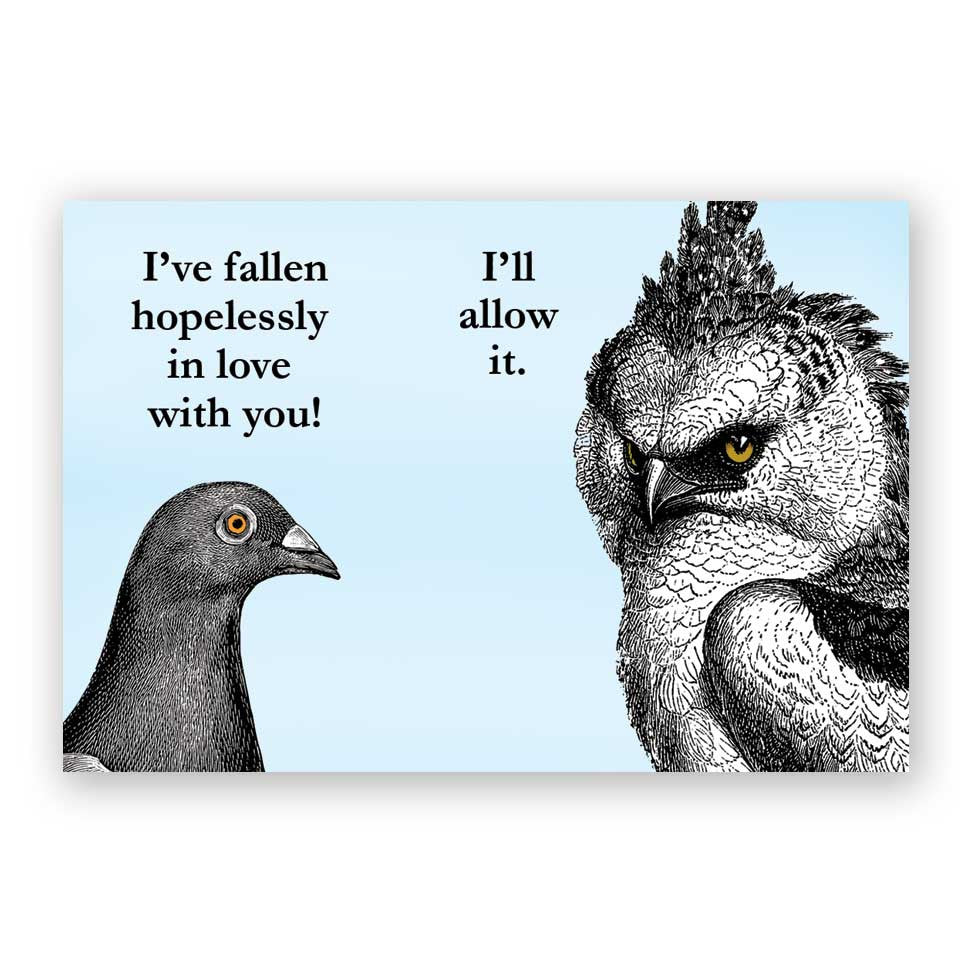 Hopelessly in Love Birds Magnet