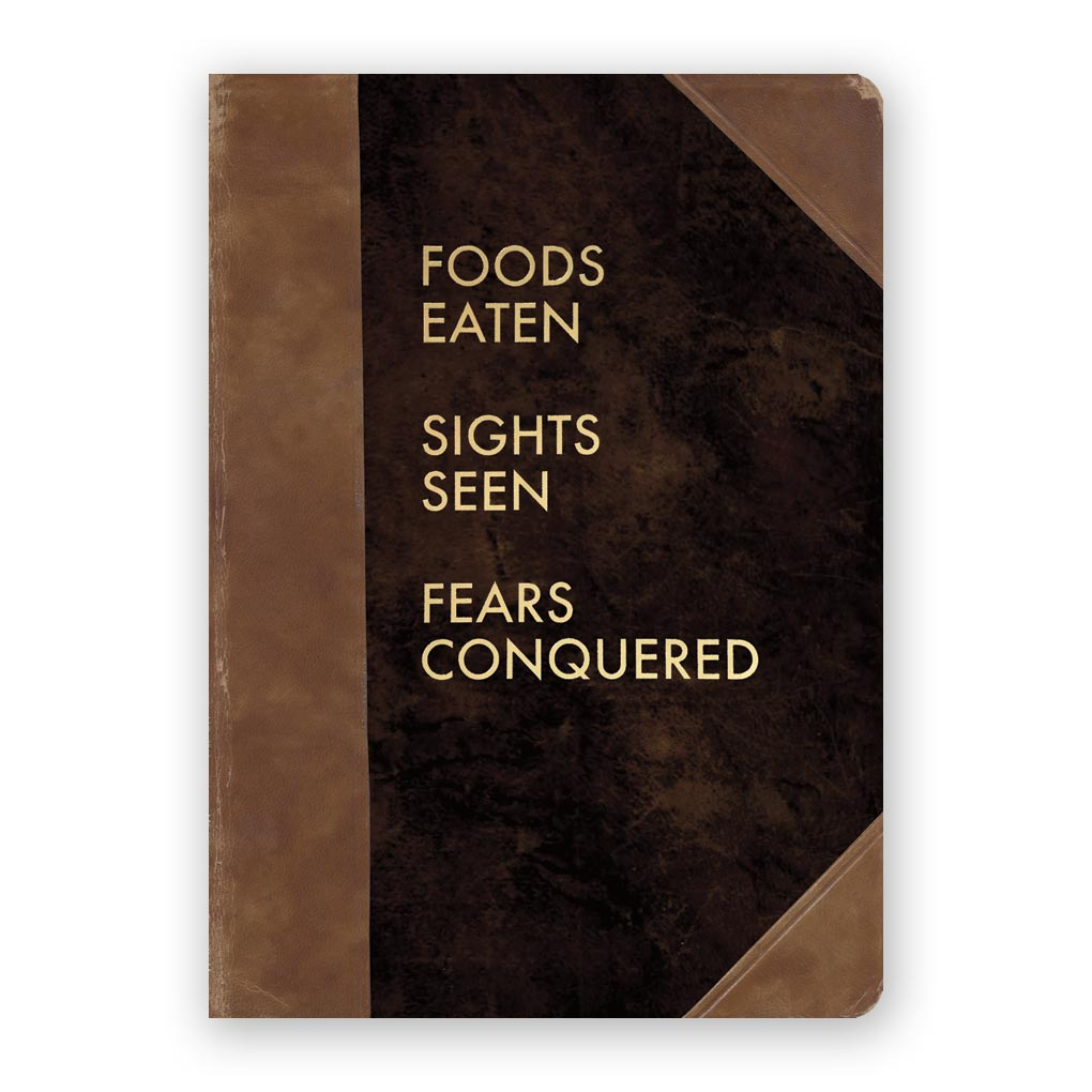 Foods Eaten Sights Seen Fears Conquered Journal