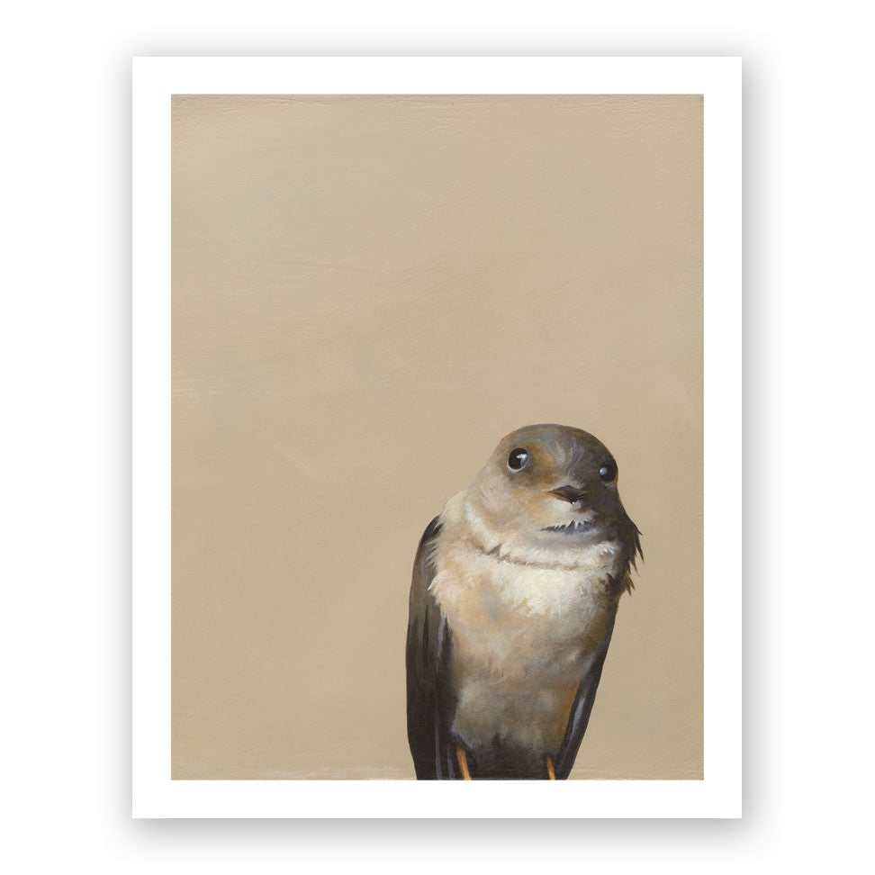Brown Bird Art Print