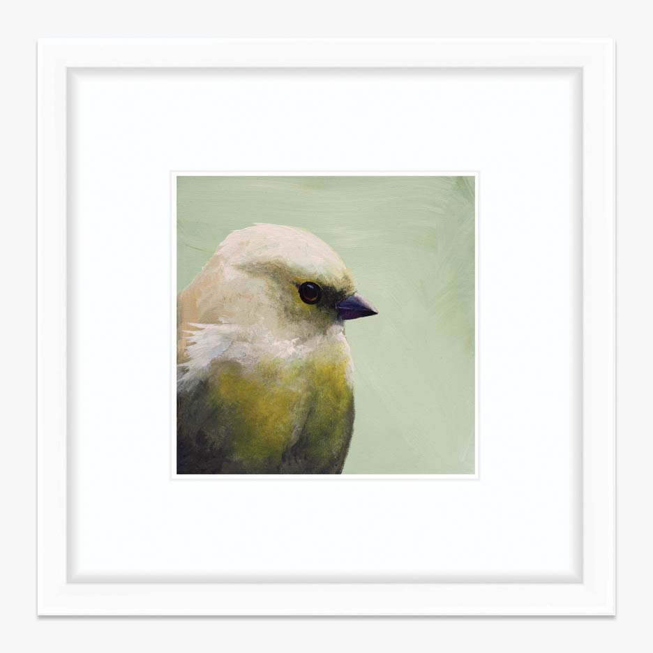 8x8 Bird Art Print with White Frame