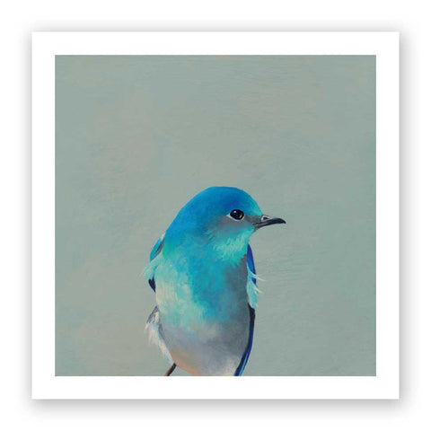 6 x 6 Bluebird Wings on Wood Decor
