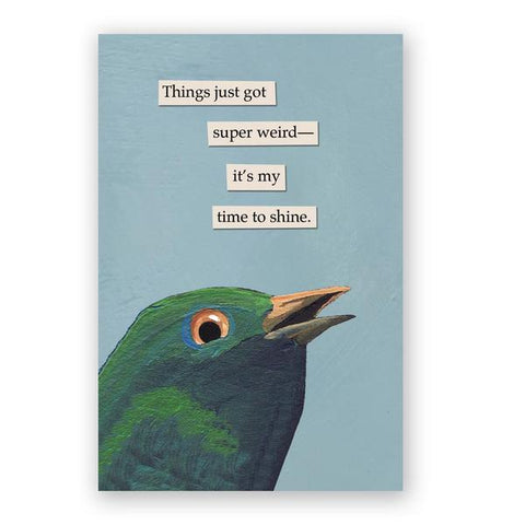 God Can't Help You Now Postcards - Set of 12 - Troubled Birds