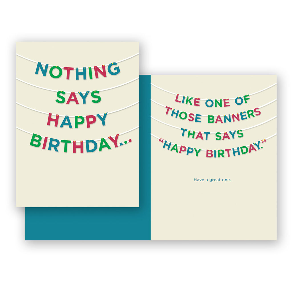 Nothing Says Happy Birthday Card
