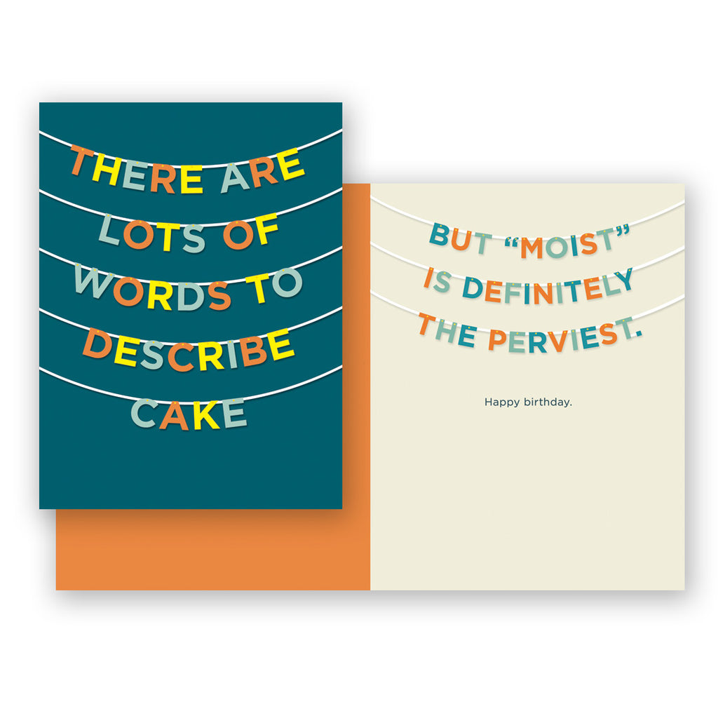Words To Describe Cake Birthday Card