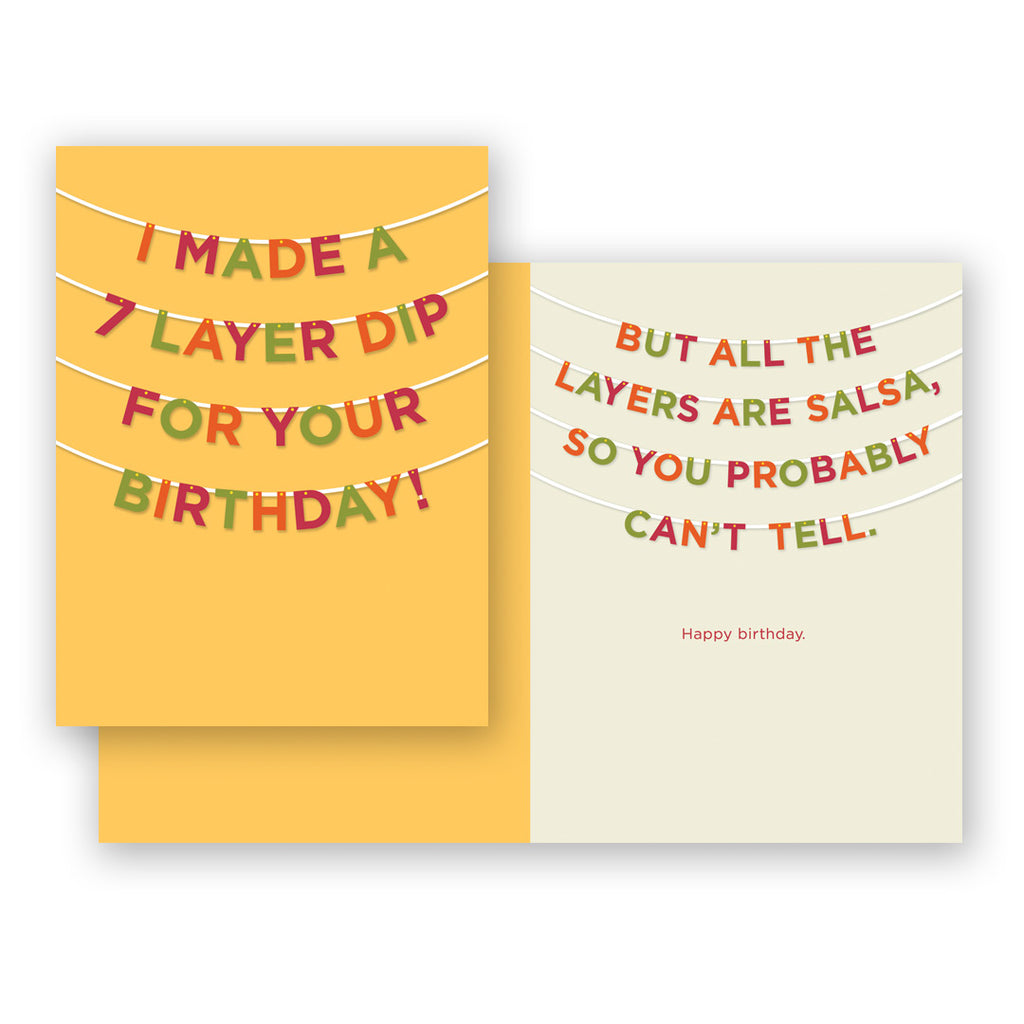 7-layer Dip Birthday Card
