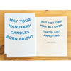Hanukkah Candles Burn Bright Card