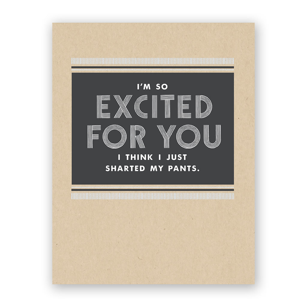 So Excited For You Congratulations Card
