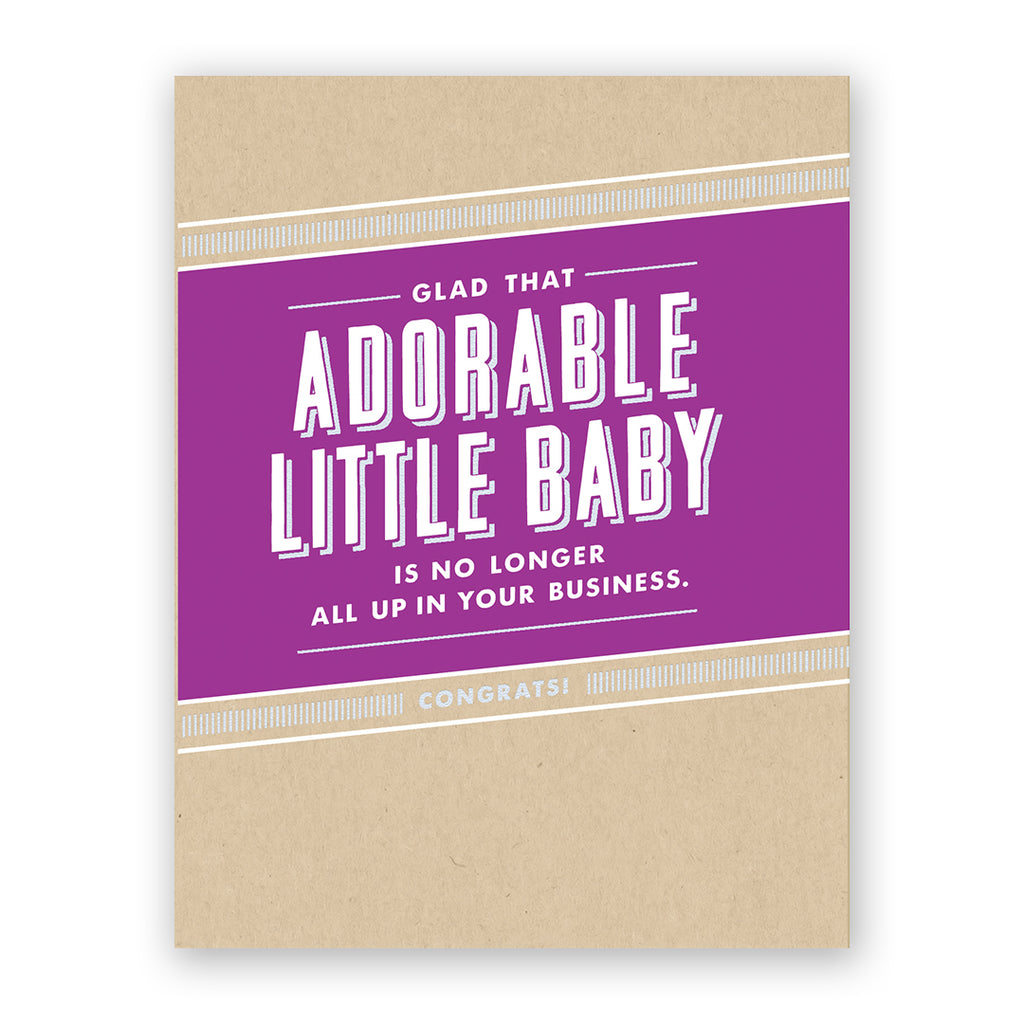 Adorable Little Baby Card