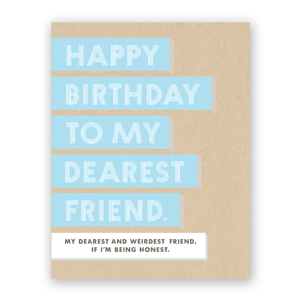 Dearest Friend Birthday Card