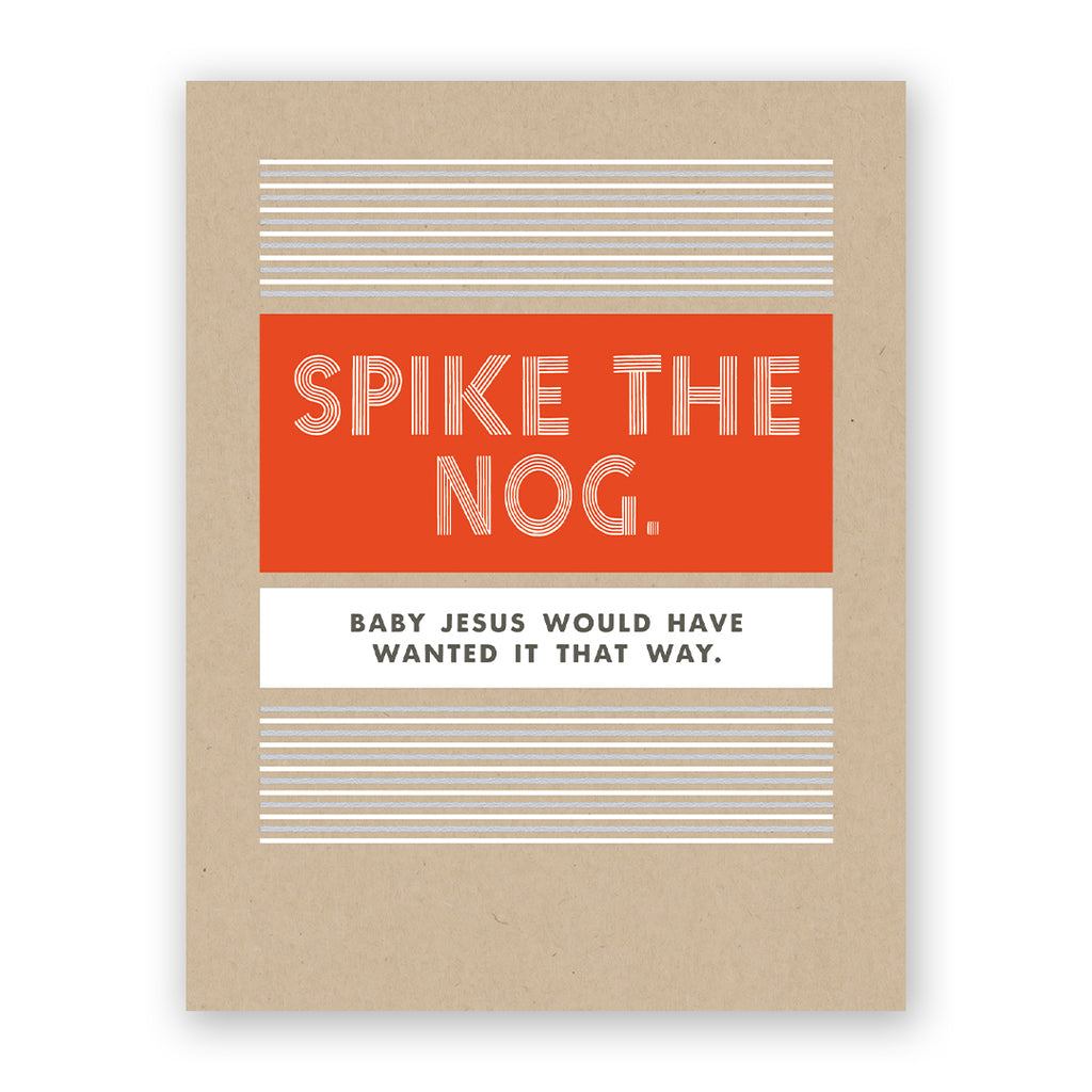 Spike the Nog Holiday Card