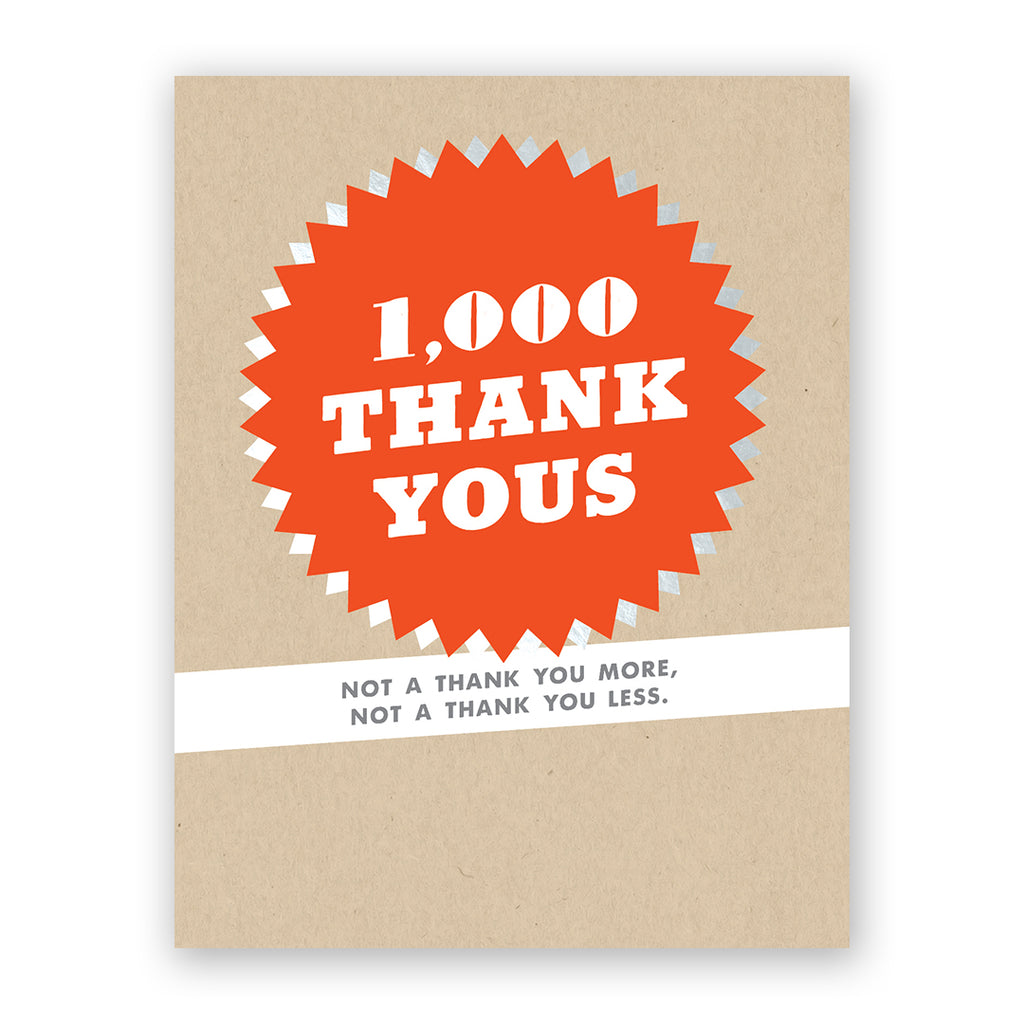 1000 Thank Yous Card