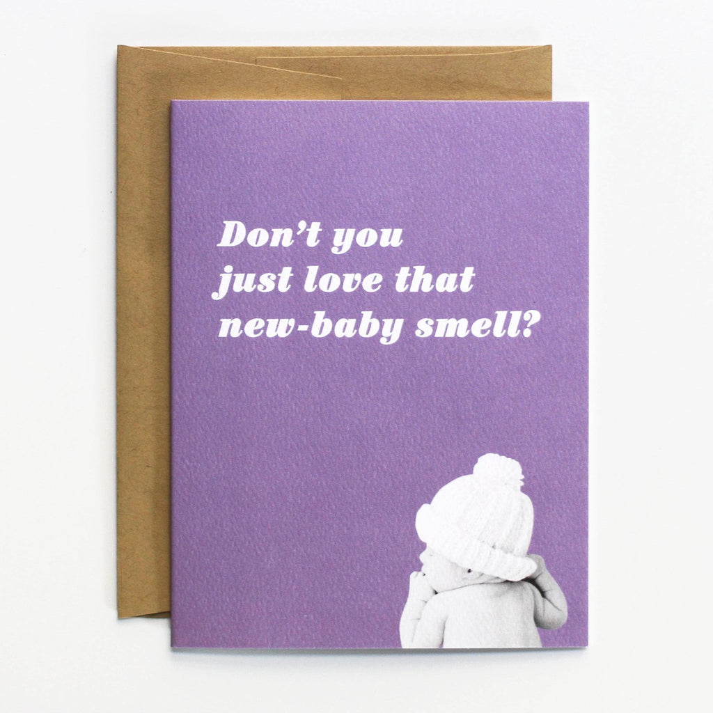 New Baby Smell Card