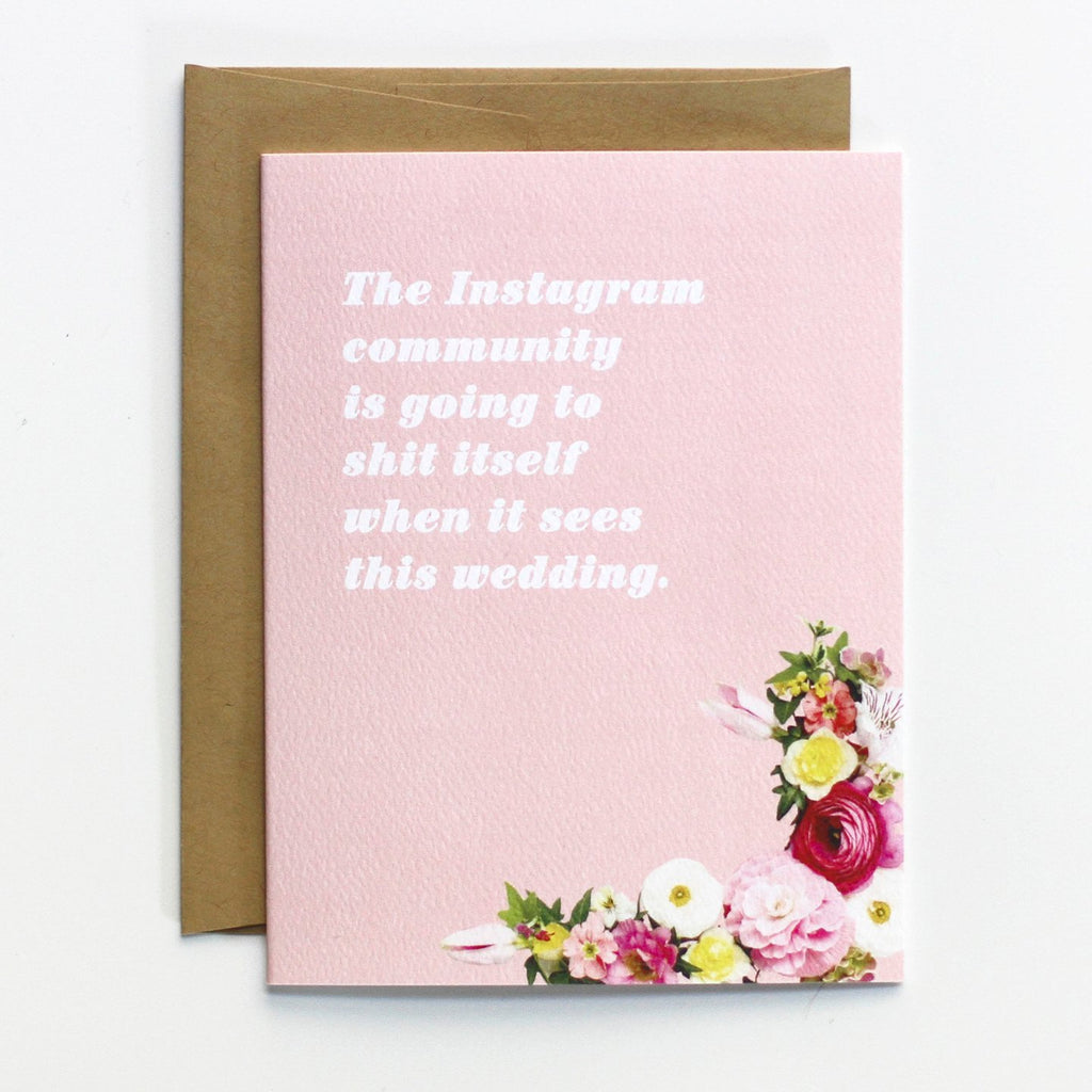 Instagram Community Wedding Card