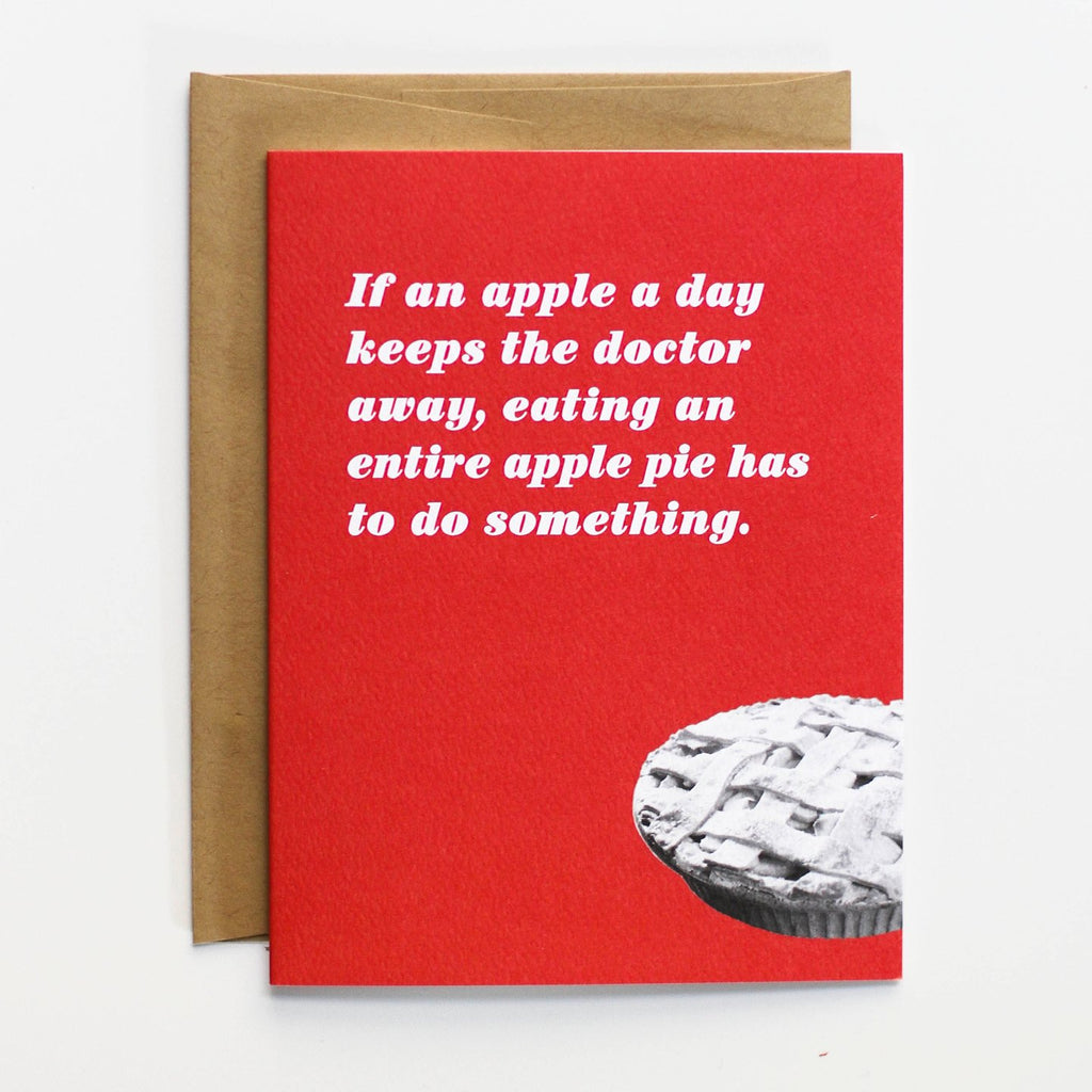 Apple Pie Get Well Card