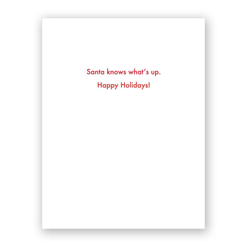 Cannabis Santa Holiday Card