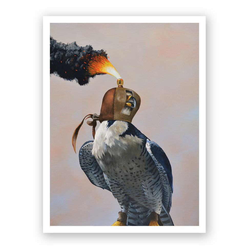 Hawk with Hood Art Print