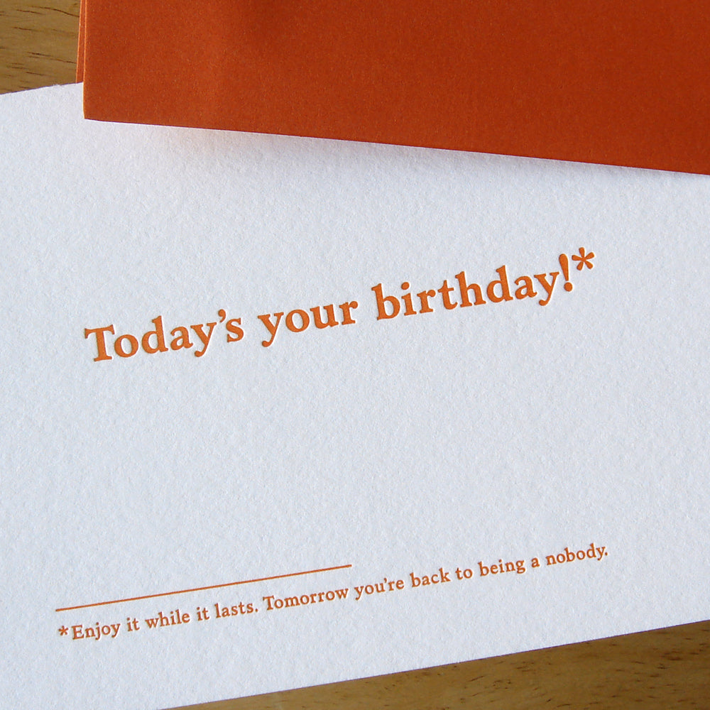 Today's Your Birthday Card