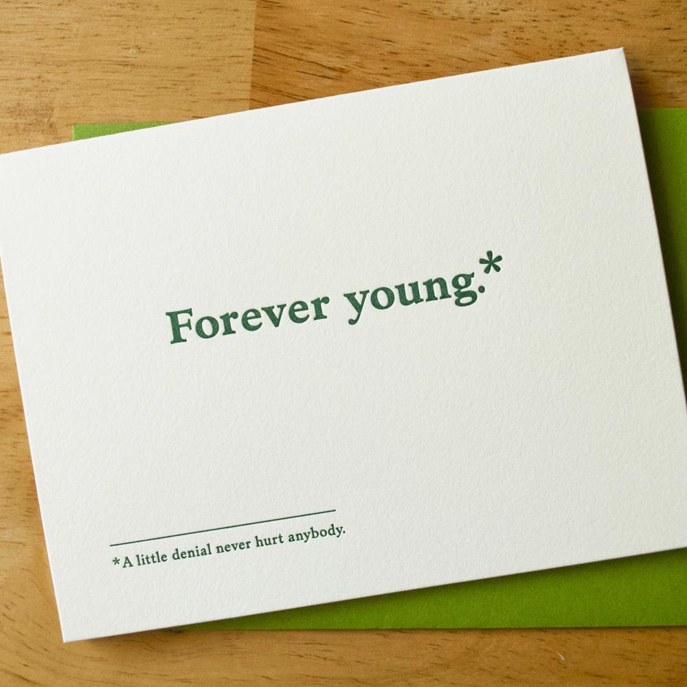 Forever Young Birthday Card