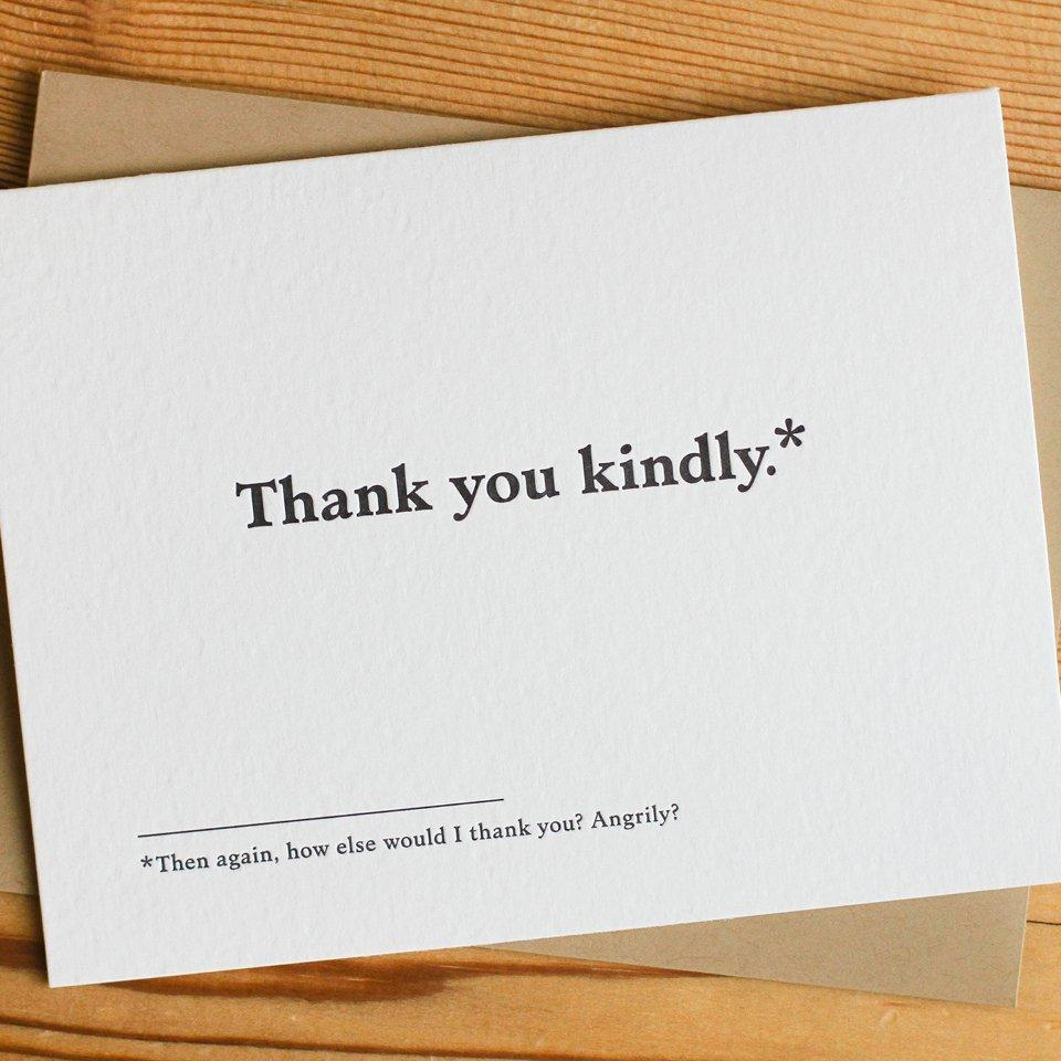 Thank You Kindly Card