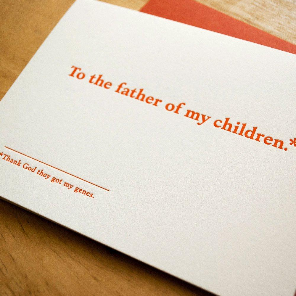Father Of My Children Father's Day Card