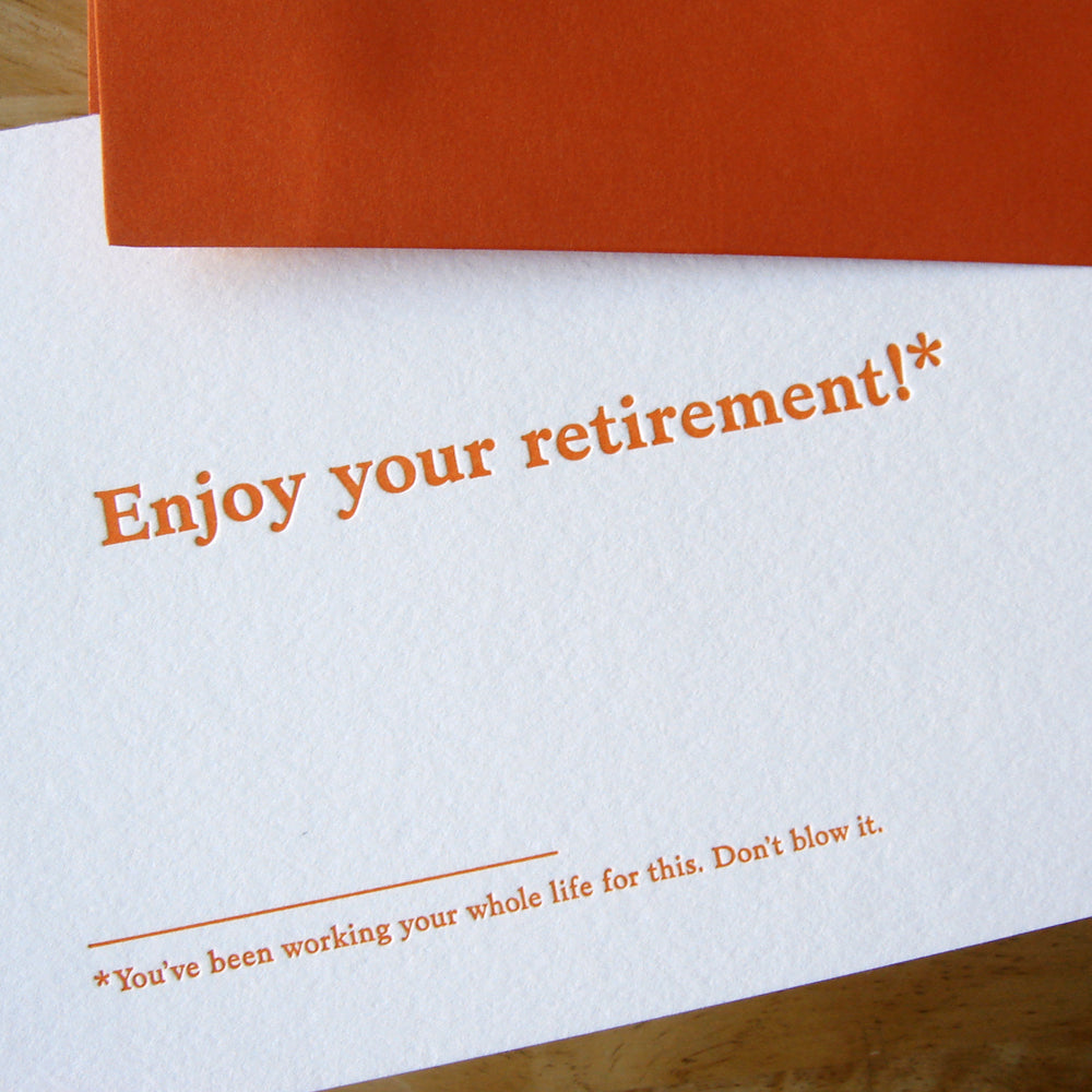 Enjoy Your Retirement Card