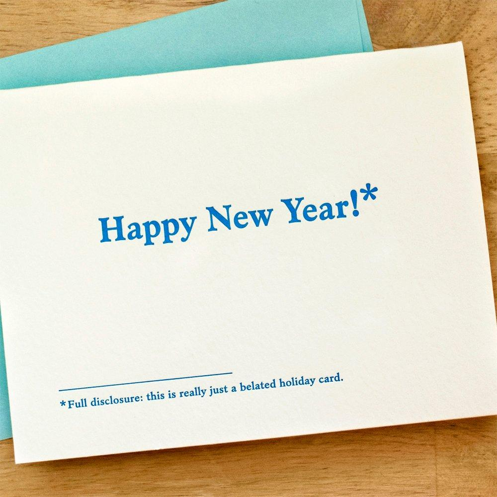Happy New Year! Footnote Card