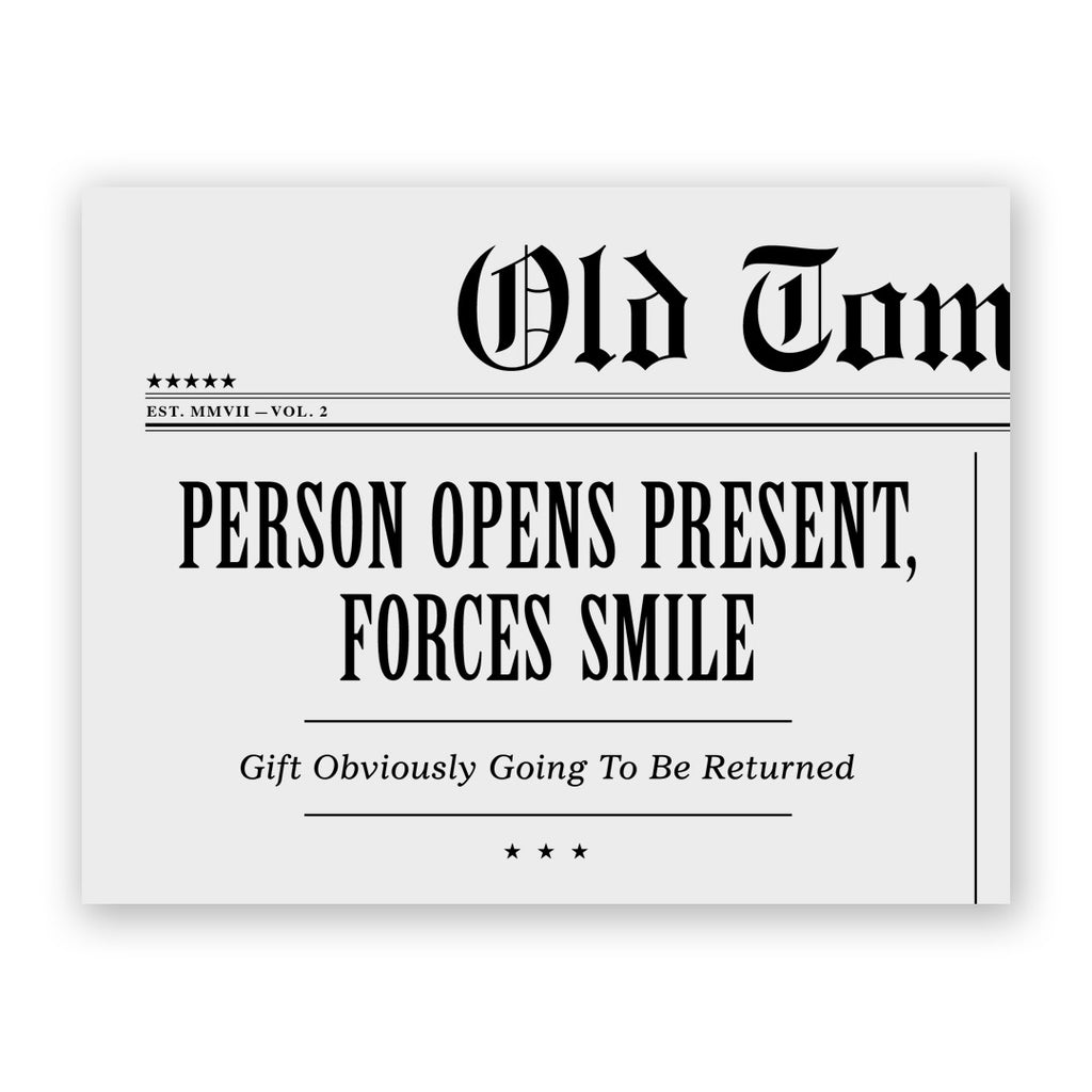 Forces Smile Birthday Card