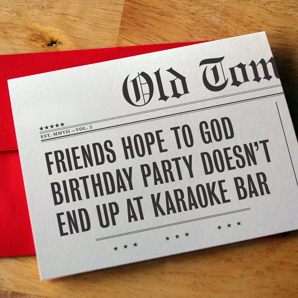 Karaoke Bar Birthday Card