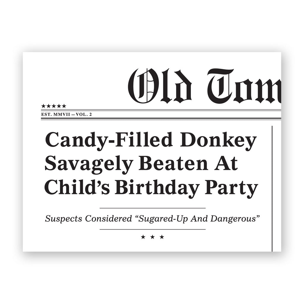 Candy-Filled Donkey Birthday Card