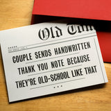 Old-School Couple Thank You Card