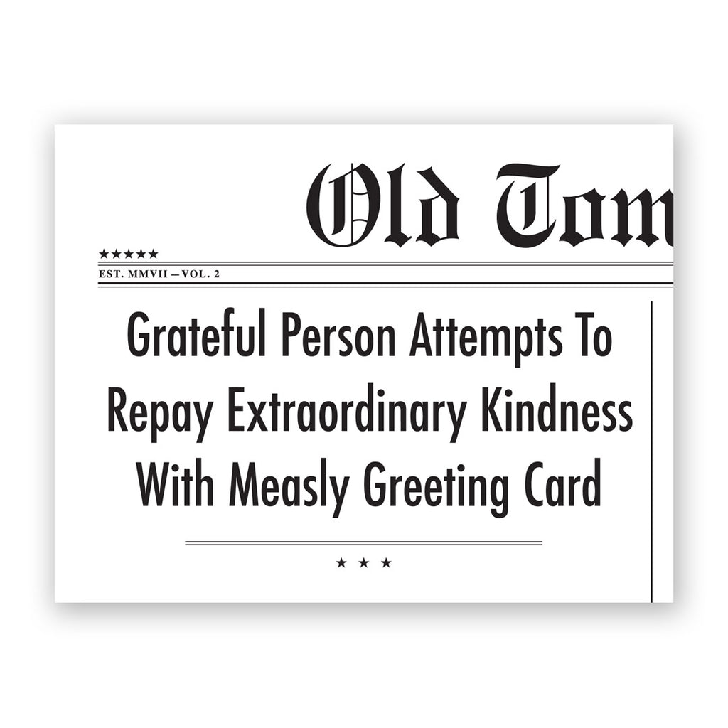 Grateful Person Thank You Card
