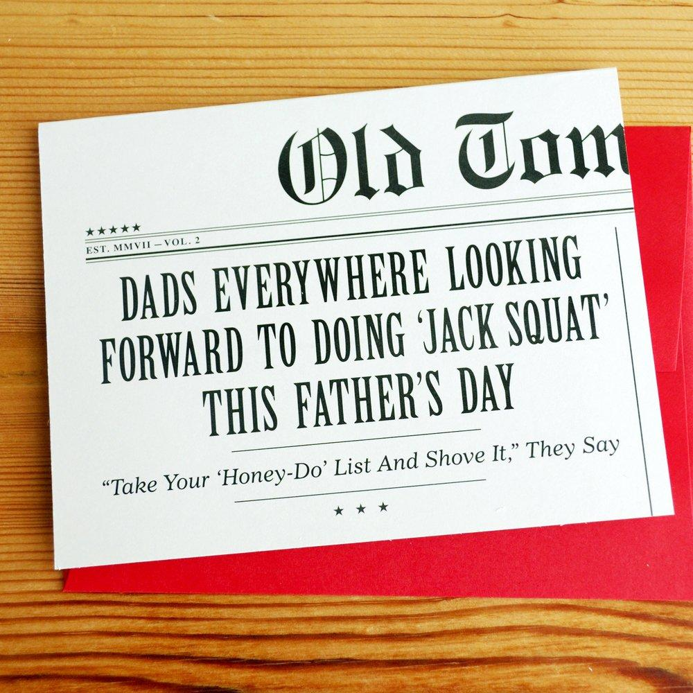 Dads Everywhere Looking Forward To Doing 'Jack Squat' This Father's Day