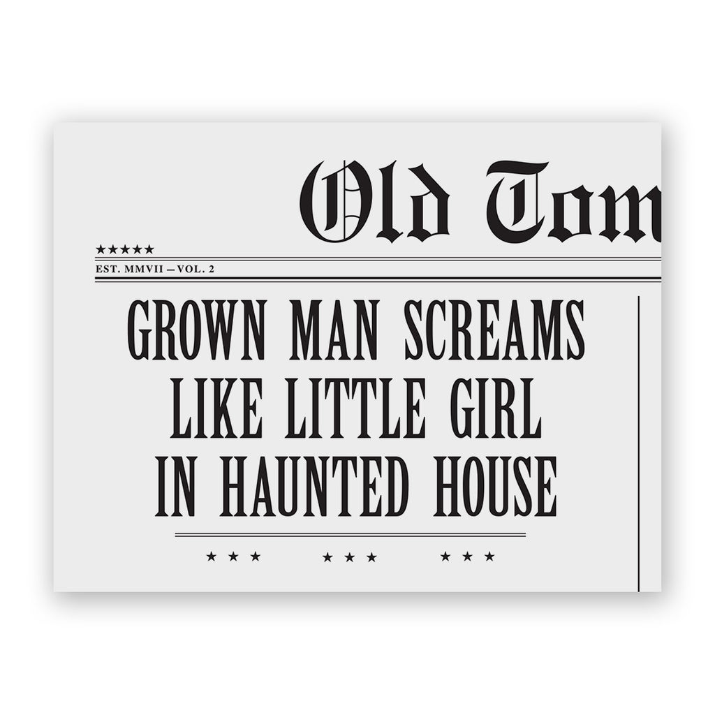 Grown Man Screams Halloween Card