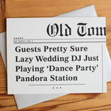 Wedding DJ Card