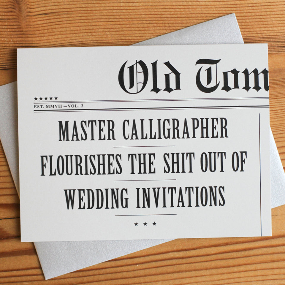 Master Calligrapher Wedding Card
