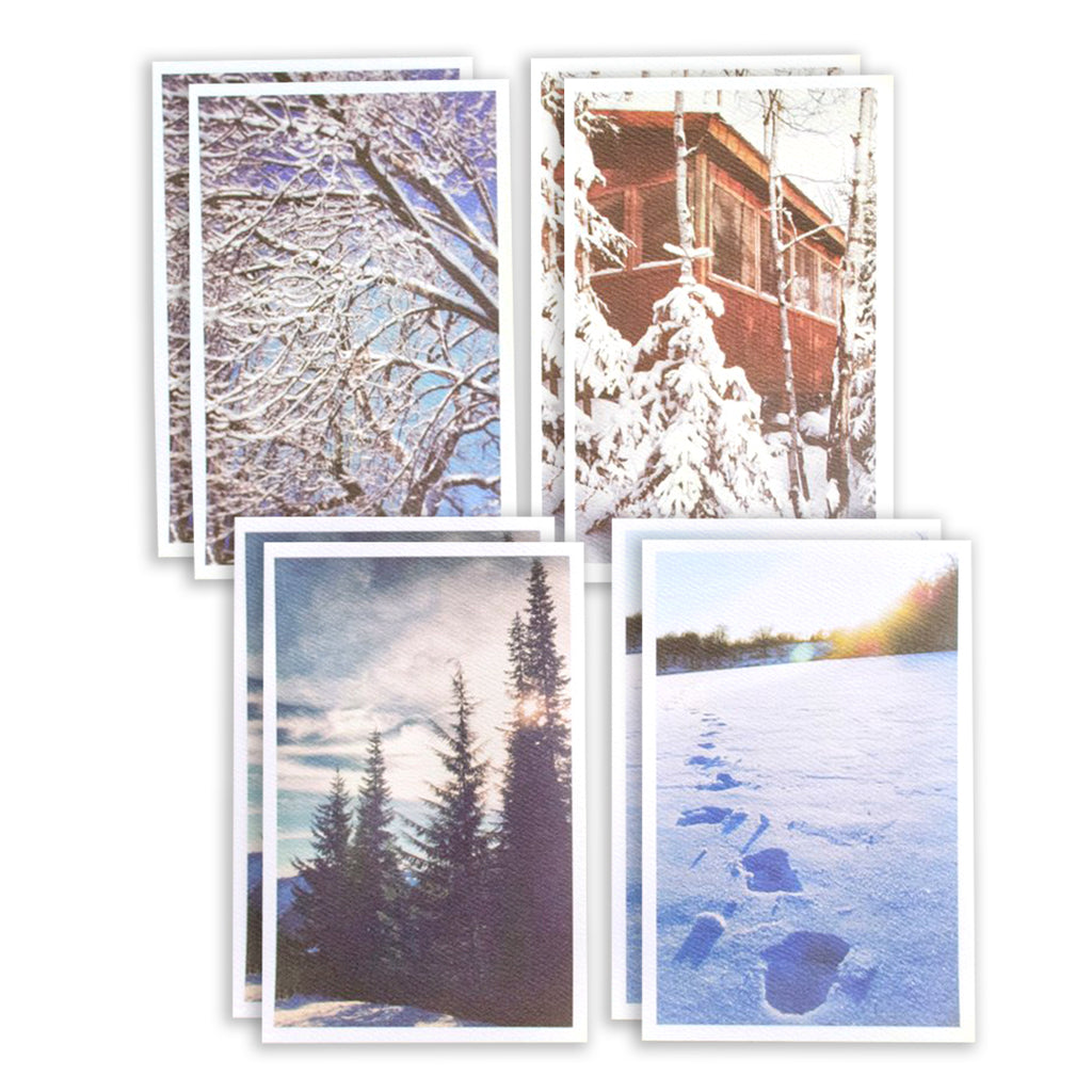 Winter Holiday Mixed Card Set of 8