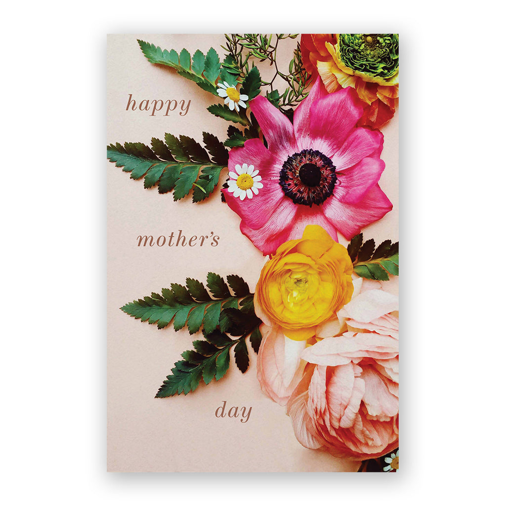 Mother's Day Pink & Yellow Card