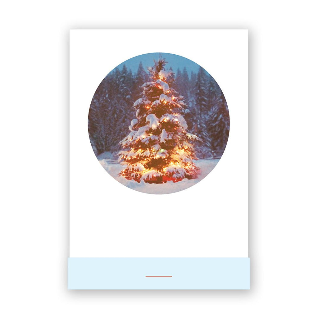 Circle Christmas Tree Card