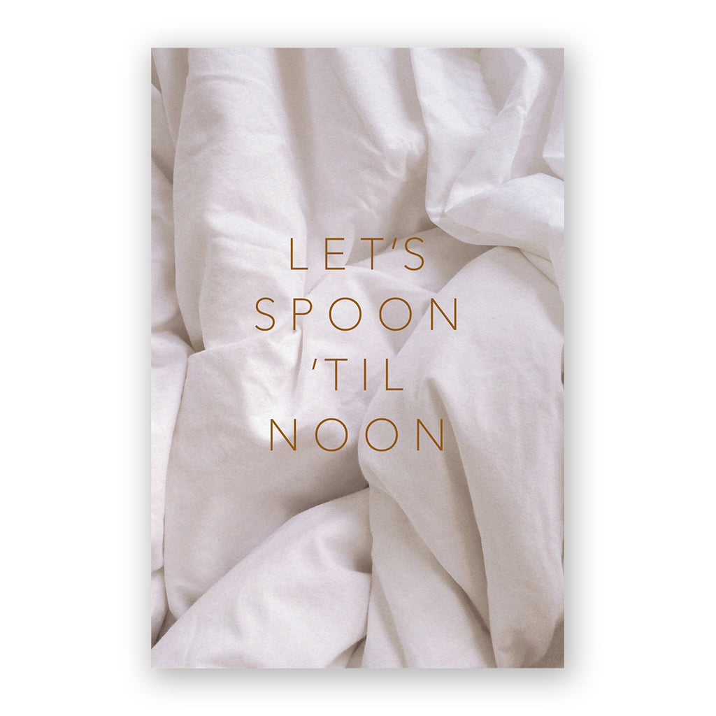 Let's Spoon Til Noon Card