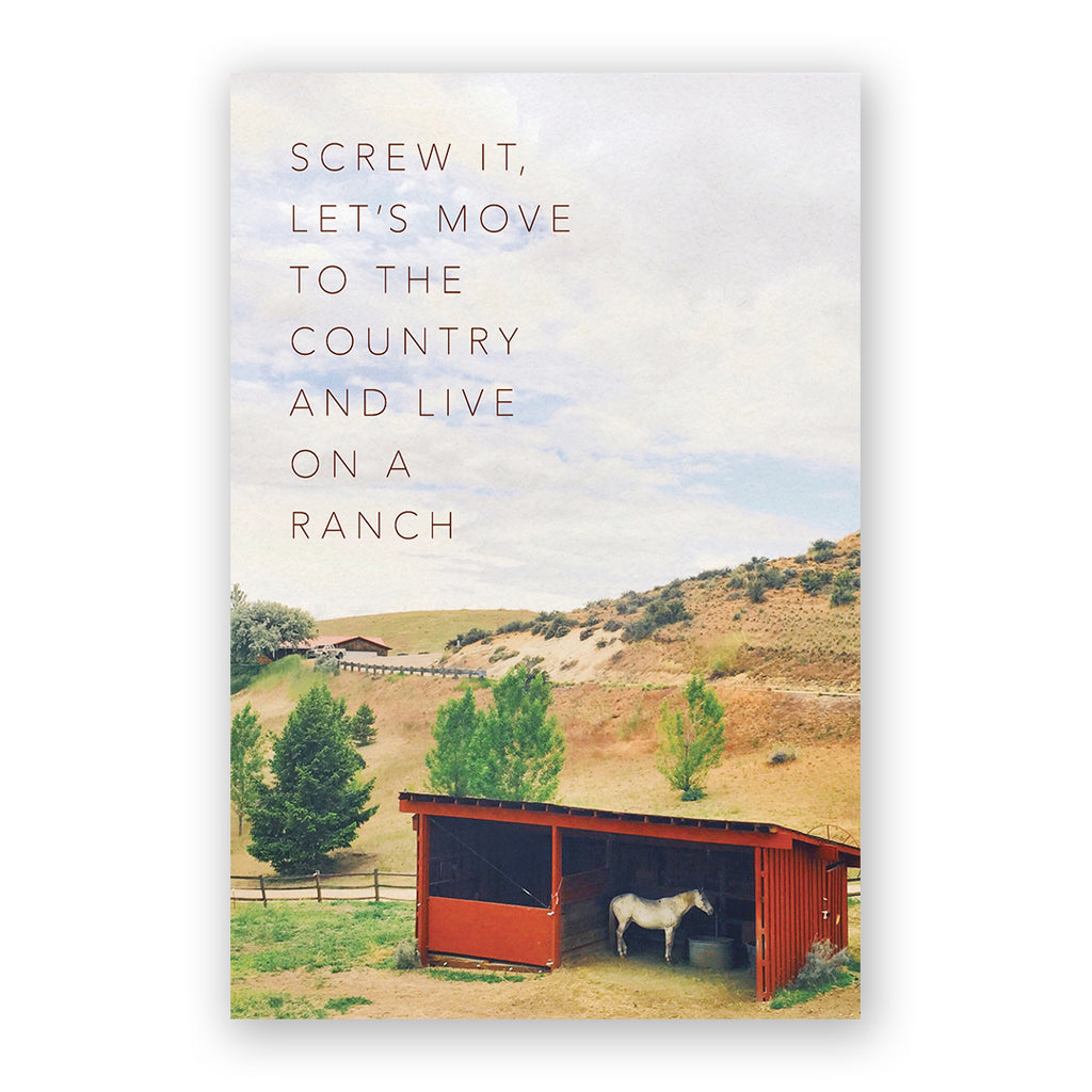 Let's Move To The Country Card